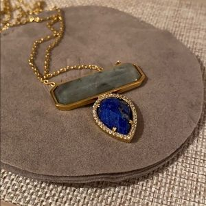 "MELANIE AULD 28"" STONE NECKLACE"